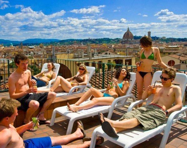 Panoramic Terrace at PLUS Hostel